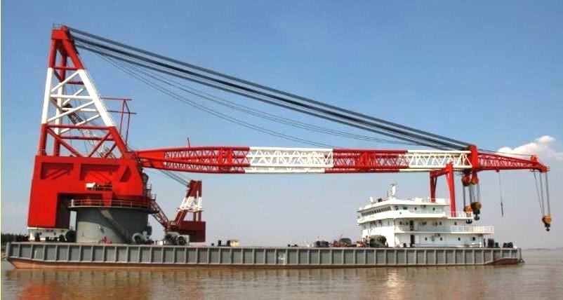 800T Self-Propelled Full Revolving Crane Vessel For Sale